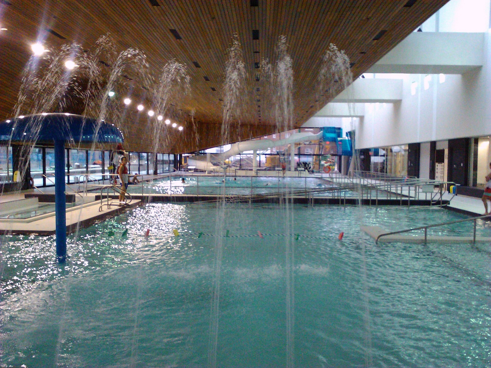 News aquatic centre makes a splash east end comedy revue distillery designers for Fairbank swimming pool toronto